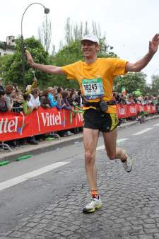 Arrivée du marathon de Paris Avril 2014